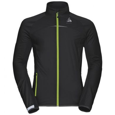 Odlo Zero weight Jacket  (Zwart / Geel)