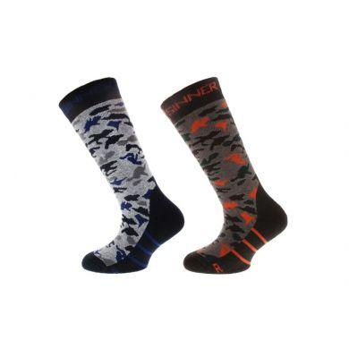 Sinner Kinder Ski Sock Camo 2-pack