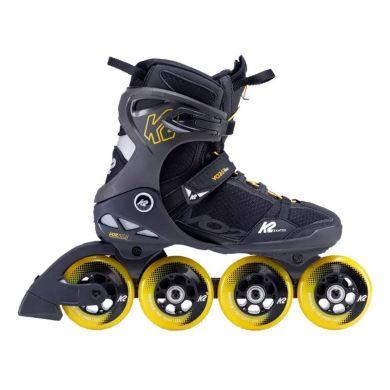 K2 Vo2 S 90 Pro Inline Skate (Zwart / Geel)