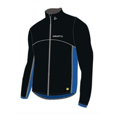 Craft Thermo Jacket Windstopper (Zwart/Blauw)