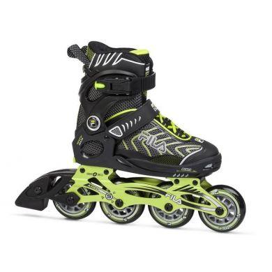 Fila Wizy Alu Boy Inline Skate (Zwart / Groen)