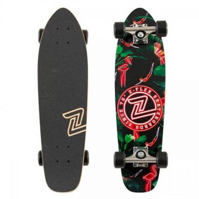 Z-Flex JP Neon Flamingo Cruiser Skateboard 27.0