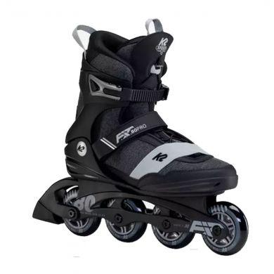 K2 F.I.T. 80 Pro Inline Skate Zwart Grijs