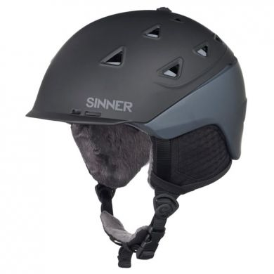 Sinner Stoneham Ski Helm (Zwart / Grijs)