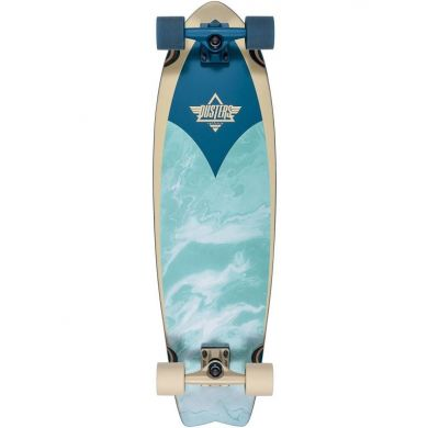 Dusters Kosher Retro Cruiser skateboard Aqua Cobalt 33.0