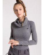 4F Dames Sweatshirt met Kol (Grijs)