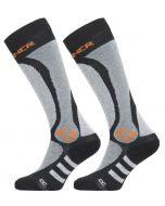 Sinner Ski Sock Pro 2-pack (Zwart/Grijs)