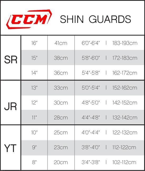 CCM maatabel shin